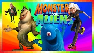 Aliens Vs Monster - ENGLISH - kids movie - Monsters and Alien - Monster und Aliens (Videogame)