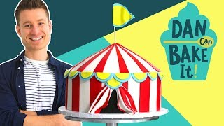 Dan Bakes a Circus Cake with DIAGONAL Layers 🎪 Challenge #12 - FOODNETWORKTV