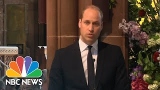 Prince William Honors Victims At One-Year Anniversary Of Ariana Grande Concert Attack | NBC News - NBCNEWS