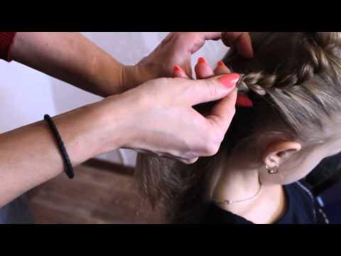 Причёска для девочек на Новый год