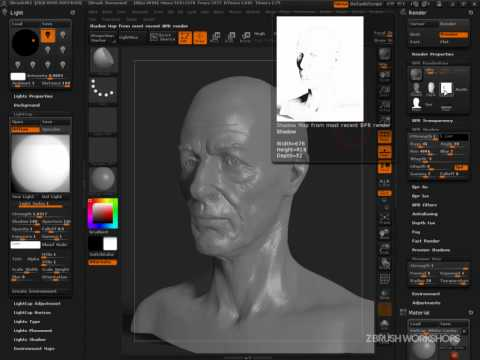 ZBrush 4R2: Creating a Simple Presentation Material
