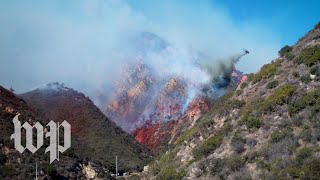 Planes equipped with water, flame retardant attempt to contain wildfire in Santa Monica Mountains - WASHINGTONPOST