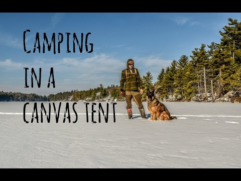 3 Day Winter Camping Trip in a Hot Tent with my Dog