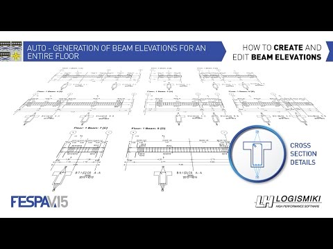Fespa - How to create and edit beam elevations
