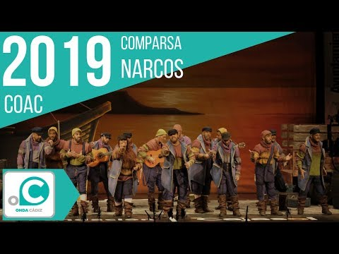 La agrupación Narcos llega al COAC 2019 en la modalidad de Comparsas. En años anteriores (2018) concursaron en el Teatro Falla como Los Soñadores, consiguiendo una clasificación en el concurso de Preliminares.