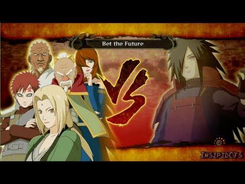 Naruto Ultimate Ninja Storm 3 Tsunade (Five Kage) Vs Madara Uchiha S-Rank Hero (English)