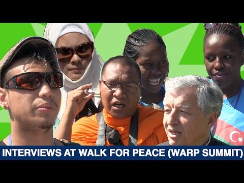 Interviews - Walk For Peace (WARP Summit 2014) - Seoul, South Korea.
