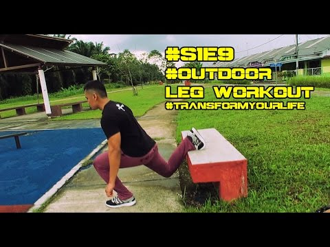 Cara Untuk Train Kaki dan Peha | Outdoor Workout | Strongman Fitness