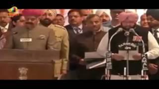 Oath Taking Ceremony of Captain Amarinder Singh as CM of Punjab in Chandigarh | Mango News - MANGONEWS