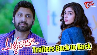 Malli Raava Movie Trailers Back to Back | Sumanth, Aakanksha Singh - TELUGUONE
