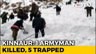 1 Armyman Killed, 5 Trapped After Avalanche In Himachal Pradesh: Report - NDTV