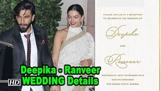 Deepika - Ranveer's WEDDING | Reception invitation - IANSINDIA