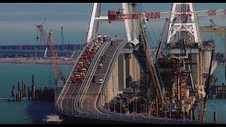 Europe's longest: Crimea bridge opens to car traffic (aerial views) - RUSSIATODAY