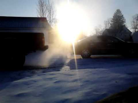 Cranking Cold Exhaust Smokey Sunrise 5 Below 0