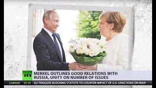 Angela Merkel meets Vladimir Putin in Russia's Sochi - RUSSIATODAY