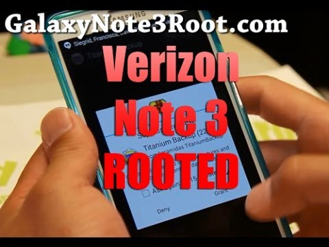 How to Root Verizon Galaxy Note 3!