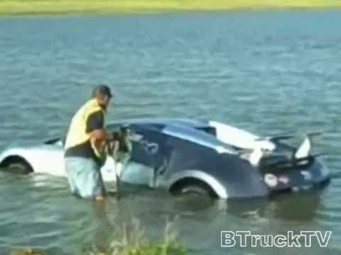 Video: Bugatti in lake - to much money :/