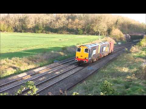 HD DRS 20304 20302 chopp past besford on 6v73 crewe-berkeley flasks 14/4/14