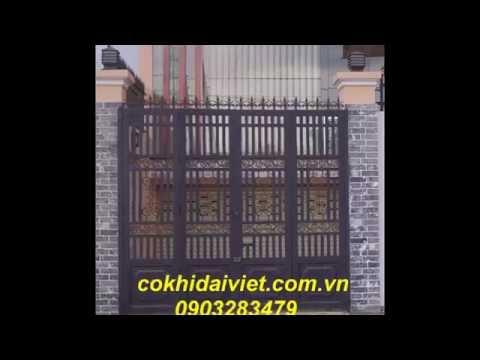 mẫu cửa cổng sắt , inox . cửa cổng mở bền đẹp giá rẻ tp Hồ chí MInh