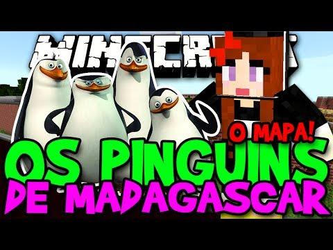Os Pinguins de Madagascar! - A Casa dos Amigus Pingús - #Minecraft