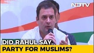 "Did Rahul Gandhi Say ""Congress Is Muslim Party""? Urdu Daily Clarifies - NDTV"