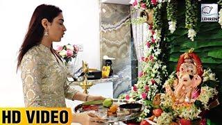 Baahubali Actress Tamannaah Bhatia's Ganpati Celebration 2017 - LEHRENTELUGU