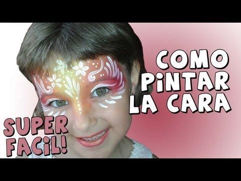 Como Pintar la Cara *Face Painting ideas* Maquillaje para Carnaval Halloween Pintura Facil Camila