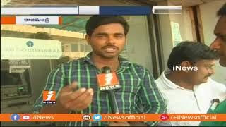 People Face Problems With No Cash boards At ATMs In Rajahmundry | iNews - INEWS