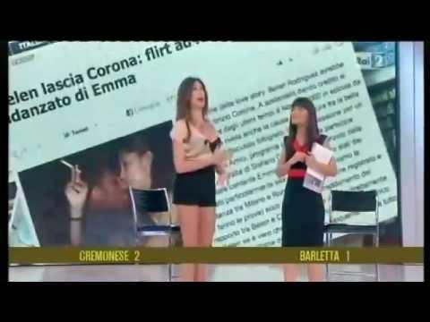 """Belen (Raffaele) commenta il flirt con il ballerino di """"Amici"""" – Quelli che il calcio 22/04/2012"""