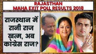 Rajasthan Exit Poll of Polls Result 2018   Rajasthan  Maha Exit Polls Result 2018 - ITVNEWSINDIA