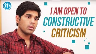 I Am Open To Constructive Criticism - Allu Sirish || Talking Movies with iDream - IDREAMMOVIES