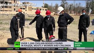 Mass graves with 1,200 civilians found in Raqqa, US-led coalition denies responsibility - RUSSIATODAY