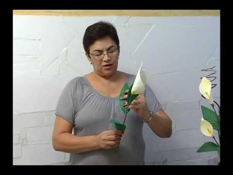 Калла, цветок из фоамирана, своими руками