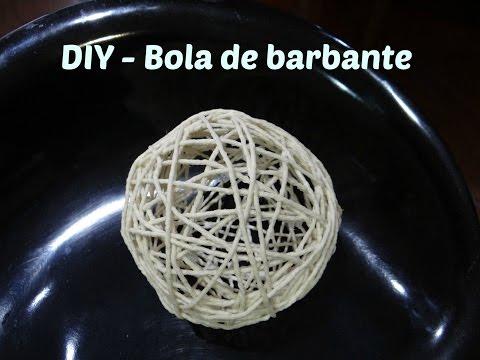 DIY ou Faça você mesmo -  Bola de barbante