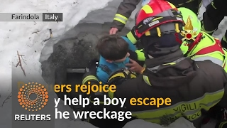 Survivors pulled from avalanche hotel debris - REUTERSVIDEO