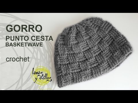 Gorro Unisex Crochet Punto Cesta