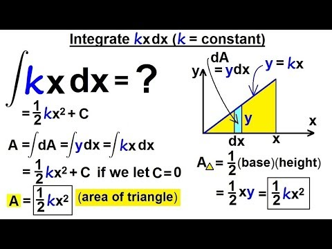 Calculus 2: How Do You Integrate? (3 of 300) Integral of kxdx (k=constant)