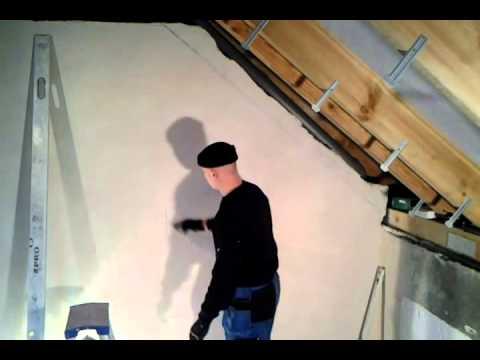 Ocieplenie dachu i zabudowa g/k poddasza - cz.2 wyznaczenie płaszczyzny skosu