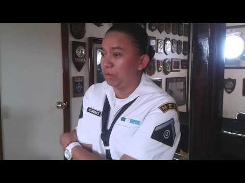 Cabo- Lilia Velazquez - Cabo- Cuahtémoc México - Repotaje Mujeres militares abordo,.