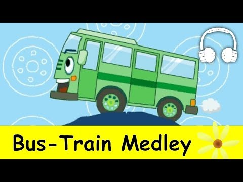 Muffin Songs – Bus Train Medley – Wheels on the Bus, This Train, Train to the City, Down by the Station, Good News