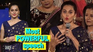 Must Watch: Taapsee Pannu's most POWERFUL Speech - BOLLYWOODCOUNTRY