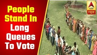 People stand in long queues to vote in Bihar's Araria - ABPNEWSTV