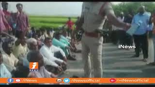 Farmers Protest To Water Release From Kadem Project at Rampur | Mancherial | iNews - INEWS