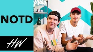 NOTD Dishes on Biggest Influences and Teach us SWEDISH !! - HOLLYWIRETV