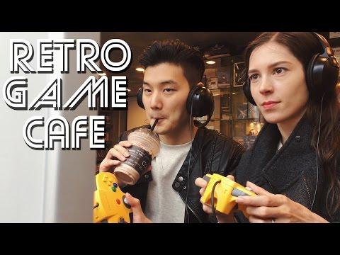 Vlog: RETRO GAME Cafe & Arcade Fun in Korea (자막)이색카페 레트로 게임 카페 & 국제커플 브이로그 오락실