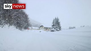Europe's snow crisis - SKYNEWS