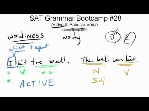 Active &amp; Passive Voice, SAT Grammar Bootcamp #28