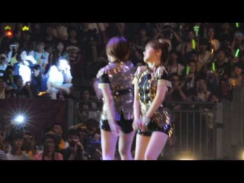 [Fancam] 130810 T-ara Hong Kong Concert (Qri's shaking and Eunjung's rap)