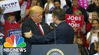 Watch President Donald Trump And Ted Cruz Move From Bitter Rivals To BFF's | NBC News - NBCNEWS