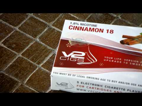 V2 Cigs Cinnamon Flavor Review |  Christmas Edition E-Cig Flavors